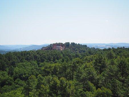 Ocher Rocks, Forest, Landscape, Nature, Ocher