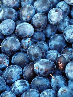 Plum, Fruit, Texture, Blue, Purple, Sweet, Plant, Fresh
