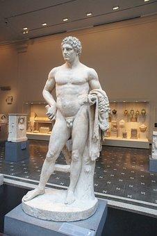 Metropolitan, Museum, Art, Ny, Statue, Greek, Male