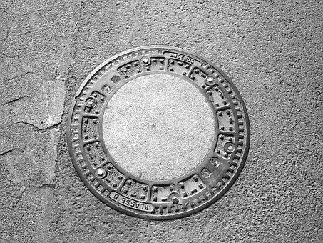 Manhole Cover, Lid, Gullideckel, Road, Metal