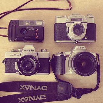 Cameras, Minolta, Voigtlander, Yashica, Hipster, Analog
