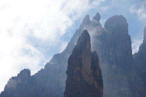 Dolomites, Mountain, Alps, Mountains, Italy, Sky