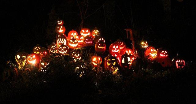 Pumpkins, Jack-o-lanterns, Halloween, Holiday, Spooky