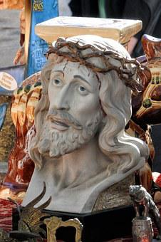 Jesus Christ, Flea Market, Bust, Spain