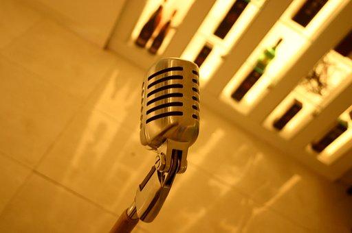 Microphone, Mike, Yellow, Karaoke, Interior