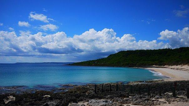 Sea, Sandy, Blue Day, Baiyun, Lung Pan Park, Blue