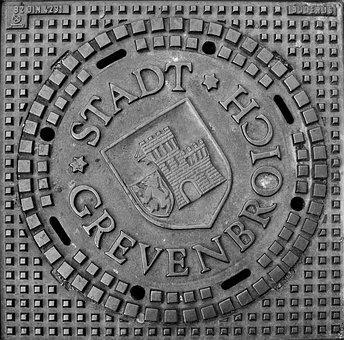 Gullideckel, Gulli, Grevenbroich, Manhole Cover