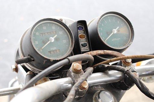 Motorcycle, Honda, Cb450, Vintage Motorcycle, Gauges