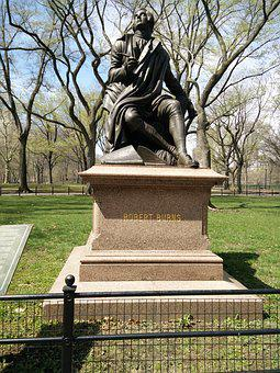 Robert Burns, Central Park, Nyc, New York