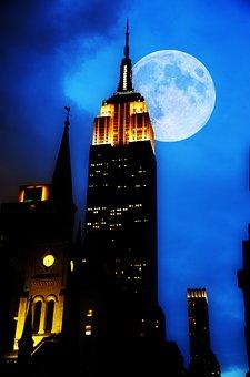 Empire State Building, New York, Night, Skyscraper