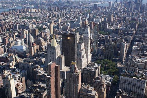 Manhattan, New York, Usa, Glance, America, Ny