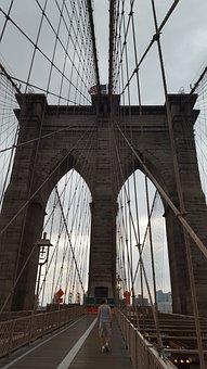 Bridge, Brooklyn, Nyc, Brooklyn Bridge, City, River