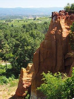 Ocher Rocks, Ocher, Roussillon, Rock