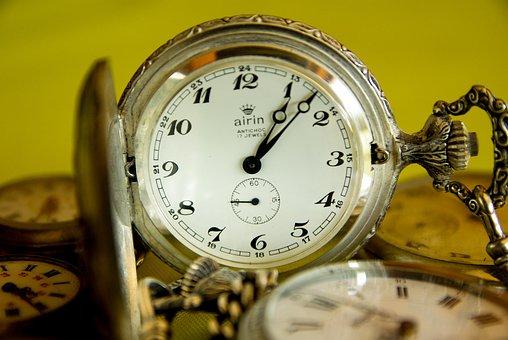 Pocket Watch, Flea Market, Time, Points