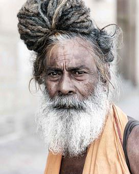 Portrait, Sadhu, Holyman, Religion, Asia, India, Person