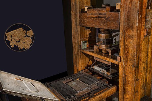 Press, Gutenberg, Printing House, Paper, Print Out
