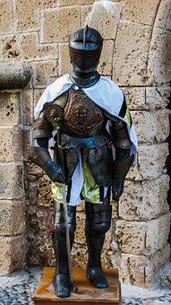Armor, Medieval, Metal, Helmet, Protection, Sword