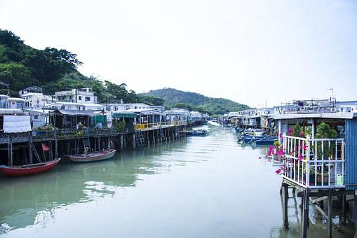 Resorts, Colorful, Beautiful, Calm, The Scenery, River