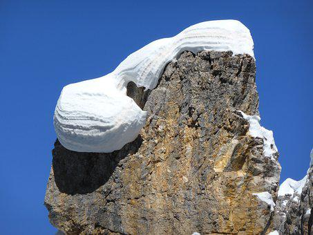 Snow, Rock, Top, Sky, Mountains, Mountain, Rocks, Alps
