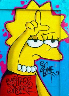 Graffiti, Loser, Lisa Simpson, Lisa, Simpson