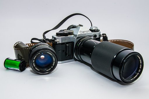 Camera, Old, Vintage, Lenses, Retro Look, Slr Camera