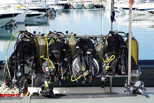 Diving, Port, Boats, Ibiza, Sea, Sport, Suit, Extremely