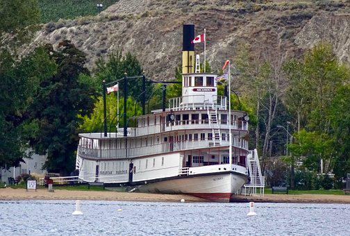 Paddle Boat, Steamer, Ss Sicamous, Vessel, Ship