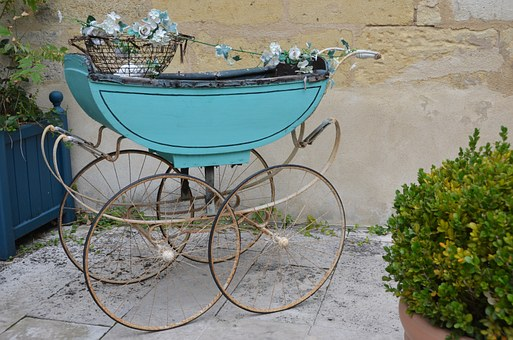 Stroller, Flea Market, Baby