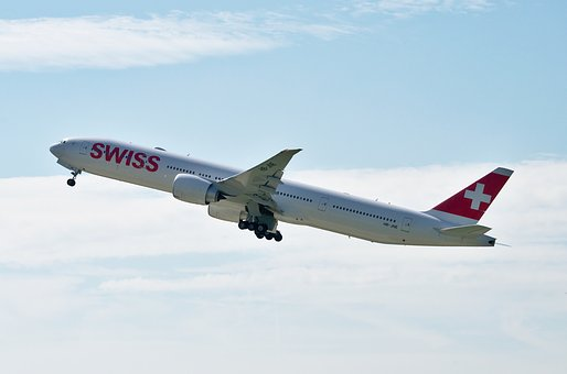 Boeing 777, Swiss Airlines, Zurich, Switzerland