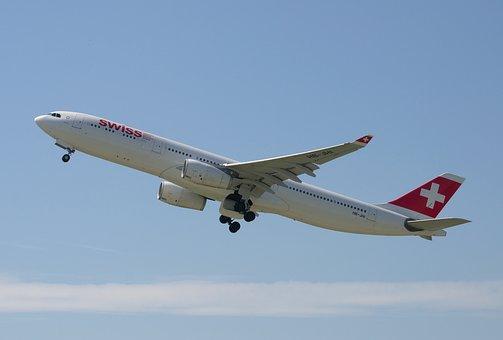 Aircraft, Airbus A330, Swiss, Airport, Zurich, Zrh