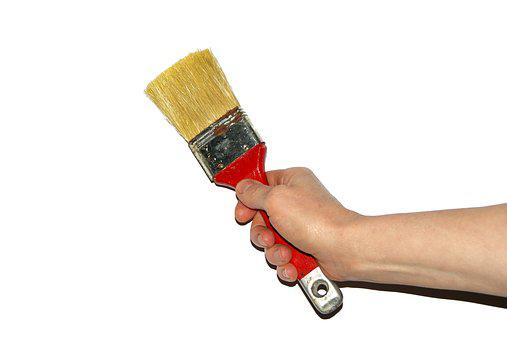 Brush, Woman, Work, The Hand, Painter, Paint