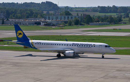Embraer 190, Ukraine Airlines, Aircraft, Airport