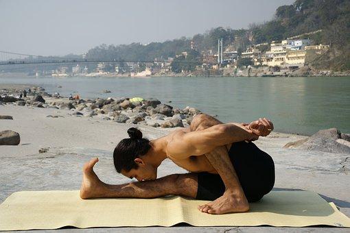Ashtanga, Vinyasa, Yoga, Rishikesh, Male, Outdoors