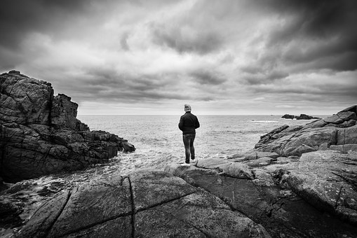 Alone, Solo, Landscape, Wideview, Young, Man, Adventure