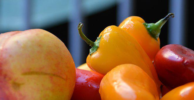 Paprika, Pods, Colorful, Red, Yellow, Green, Plants