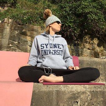 Meditation, Girl, Healthy, Yoga, Outdoors, Pose