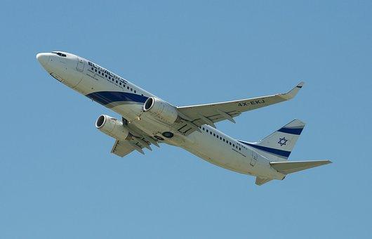 Aircraft, Boeing 737-800, El Al, Airport, Zurich, Zrh