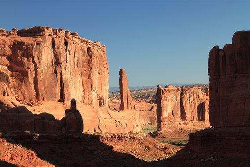 Arches National Park, Utah, Shadows, Arches, National