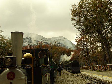 Train, Driver, Wagons, Argentina, Ushuaia, Cotton Gin