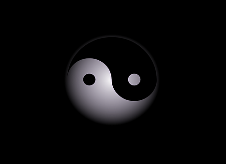 Yin-yang, Abstract, Background, Black, Logo, Symbol