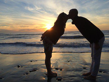 Love, Couple, Beach, Kissing, Kiss, Couple In Love