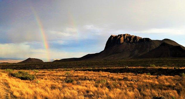 Big, Bend, National, Park, Mountain, Desert, Rainbow