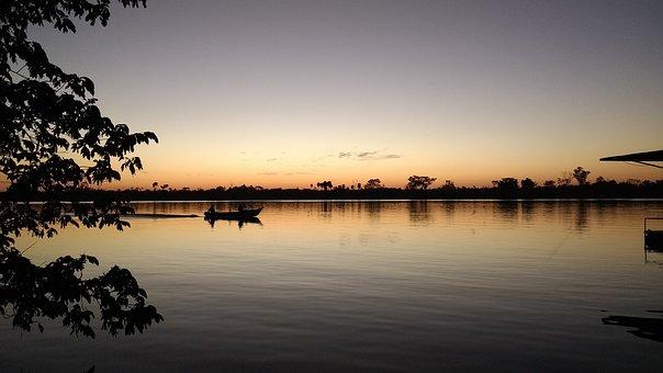 Rio, Fishery, Boat, Landscape, People Fishing, Water