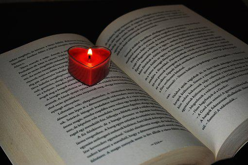Book, Open Book, Candle, Candlelight, Candle Flame