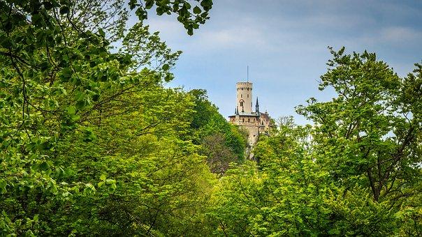 Castle, Lichtenstein, Royal, Hidden, See