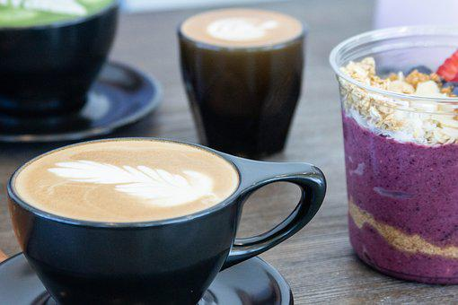 Coffee, Food, Dessert, Shop, Latte