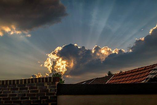 Storm, Sun, Cloud, Sky, Color, Orange, Sky Clouds