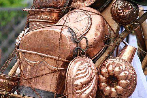Copper Cookware, Kiepe, Dealer, Craft, Transport, Metal