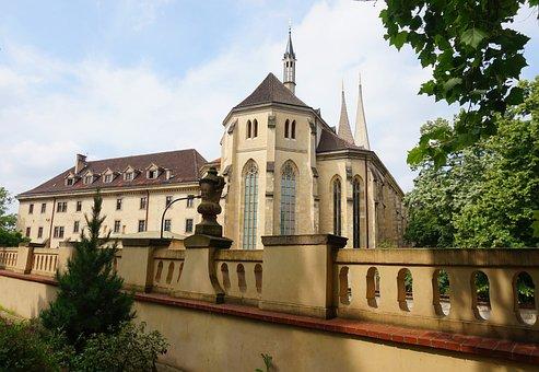 Prague, Czechia, Monastery, Church, Gothic, Neogothic