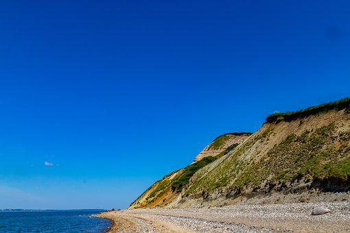 He Dune, Cliff, Beach, Sky, Sea, Natural, Danish Beach